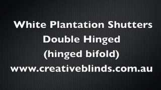Plantation Shutters Double Hinged Byron Shire