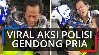 Viral Aksi Polisi Gendong Penumpang Transjakarta yang Kena Serangan Jantung, Bripka Sigit Lari ke RS