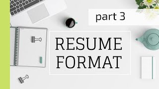 How to write a good resume?   Work Experience, Internships & Education Section (2020)