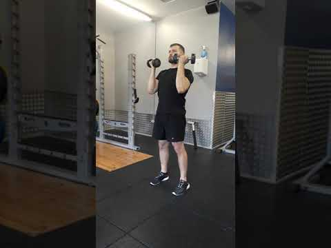 Dumbbell Curl + Overhead Extension