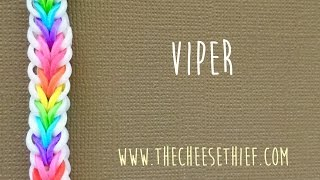Rainbow Loom Bands Viper Fish Tutorial By TheCheeseThief
