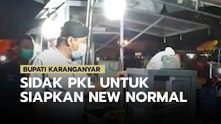 Bupati Karanganyar Juliyatmono, Sidak PKL di Taman Pancasila Guna Mempersiapkan New Normal