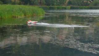 preview picture of video 'rc seaplane salagou Amerrissage hydravion Salagou lac de St Martial 07'
