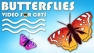 CAT GAMES - Catching Butterflies! Entertainment Video for Cats to Watch.