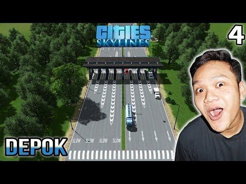 Pintu Tol Dan Perbaikan Sarana Prasarana - Cities Skylines Indonesia #4