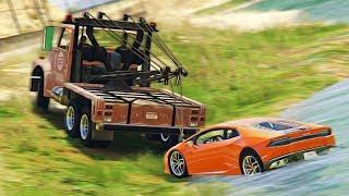 Реальная Жизнь в GTA 5 - УВИДЕЛ КАК Я ПОДНЯЛ УТОПЛЕННЫЙ Lamborghini Huracan