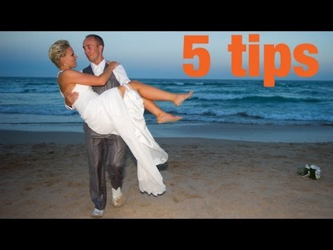 5 tips for successful wedding photography