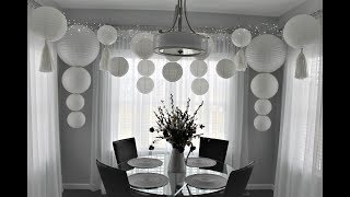 Chinese Paper Lantern Backdrop DIY | How To