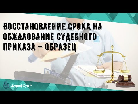 Восстановление срока на обжалование судебного приказа — образец