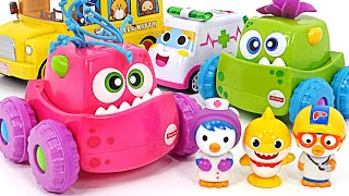Fisher monster truck dispatch! Let's help Pororo and Pinkfong! | PinkyPopTOY