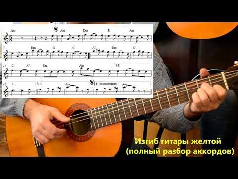 Изгиб гитары желтой (аккомпанемент)