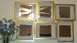 Diy Dollar Tree High End Mirror And Gemstones Wall Decor Quick