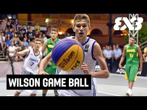 """Wilson FIBA 3X3 Official Game Outdoor Basketball Size 7 (29.5"""")"""