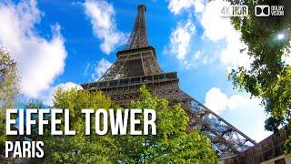 Eiffel Tower Paris, Elevator Ride Top Floor - 🇫🇷 France - 4K Virtual Tour