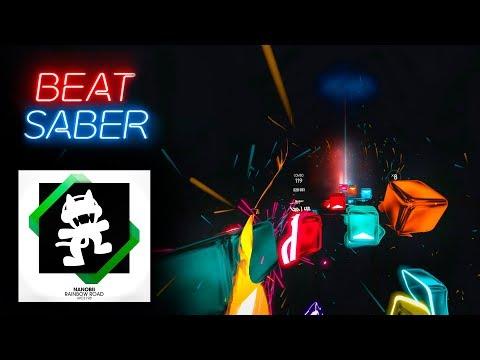 Beat Saber | RAINBOW ROAD (Custom Song) - игровое видео