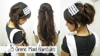 5 Anime Maid Hairstyles L Quick Cute & Easy Hairstyles