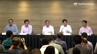Press conference on the Wuhan virus (27 Jan, 2020) fronted by various ministers in Singapore
