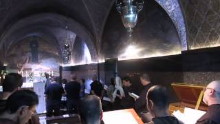 Ceremony and Praying Inside the Church of the Holy Sepulcher