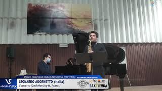Leonardo ADORNETTO plays Concerto by H. Tomasi #adolphesax
