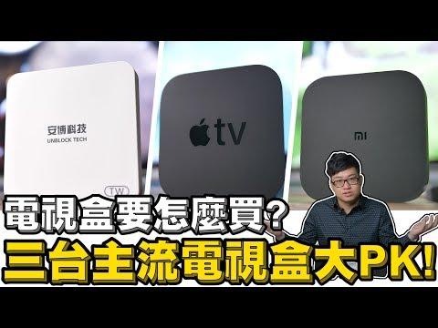 電視盒要怎麼買?三台主流電視盒大PK
