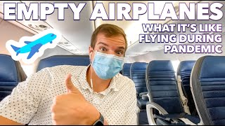 😷 FLYING DURING A PANDEMIC IS IT SAFE? EMPTY AIRPORT & AIRPLANE ✈️ HOW TO STAY SAFE WHILE TRAVELING