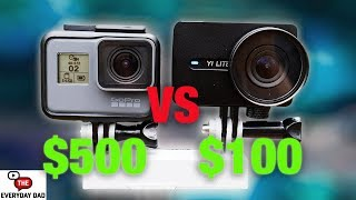 YI LITE the Cheapest Stabilized Action Camera! Compared to the new GoPro Hero 6! [4K] | Kholo.pk