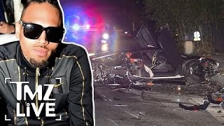 Chris Brown's Lambo Totaled In Beverly Hills | TMZ Live