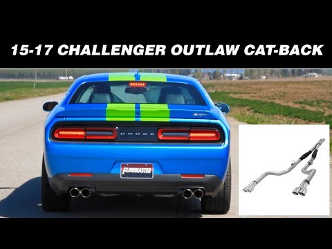 2015-19 Challenger R/T ScatPack, SRT392 6.4L, Hellcat 6.2L - Outlaw Exhaust System 817740