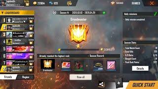 Push TOP 1 Global Player Ajjubhai94 GrandMaster Heroic - Garena Free Fire Live