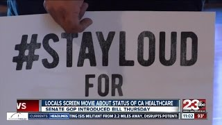 Local groups attend movie screening at Maya Cinemas about status of healthcare