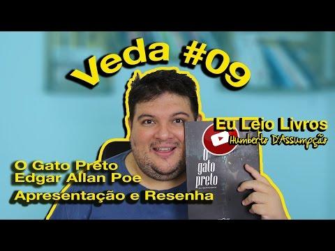 #VEDA 09 -  Apresentação e  Mini Resenha da HQ O GATO PRETO - Edgar Allan Poe