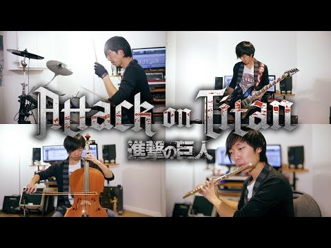 Attack On Titan Medley (Red Swan + 紅蓮の弓矢) Orchestral Rock Cover - Shawn XG