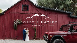 Red Barn September Wedding In Golden, CO // Hayley And Corey