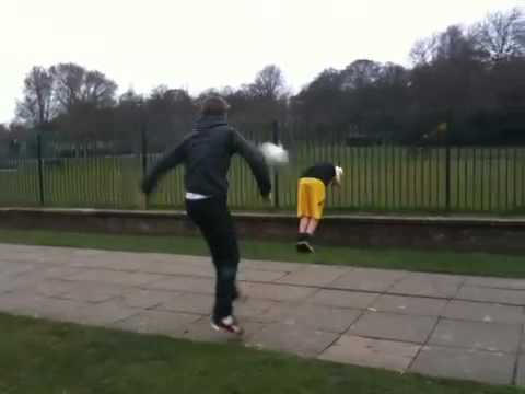 Sidney Adams went to take a power shot at Zak. The ball had different ideas. Shot in Preston Park, Brighton by myself. Please contact me to gain permission to re-use the video, ANYWHERE. Hi De Vries