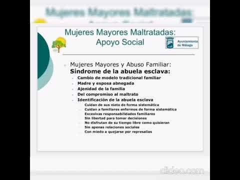 Programa: Mujer Mayor Maltratada. Apoyo Social