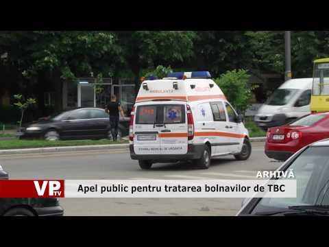 Apel public pentru tratarea bolnavilor de TBC