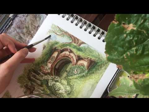 Watercolor painting // THE LORD OF THE RINGS // THE HOBBIT PAINTING