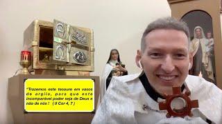 ❤️CORAÇÃO ABERTO❤️Quarta-feira 21/08/19🔥Vós sereis batizados no FOGO🔥e no ESPÍRITO SANTO 🕊🕊🌹🌹
