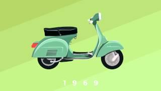 Vespa - bella Italia. Gratulation zum 70 Geburtstag