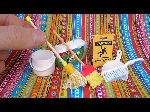 DIY Miniature Cleaning Set | DollHouse | No Polymer Clay!