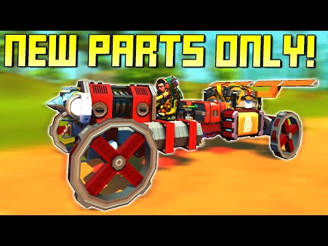 Racing With New Survival Mode Parts Only!  - Scrap Mechanic Multiplayer Monday