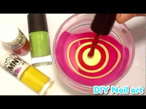 ★ DIY Nail Art ★ Water Marble Tutorial ★ RED & GOLD WHIRLS