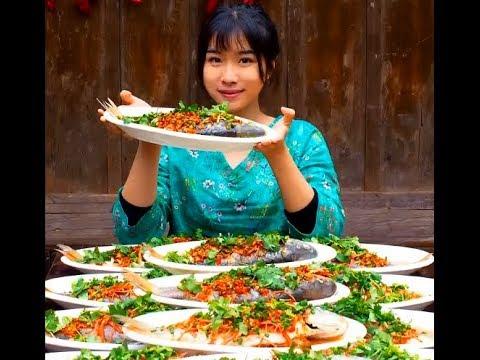 #大胃王#美食#吃貨 農村吃貨消滅30條油潑魚