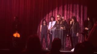 ANGEL recieving Vegas Rocks Magazine Legend Award 2016