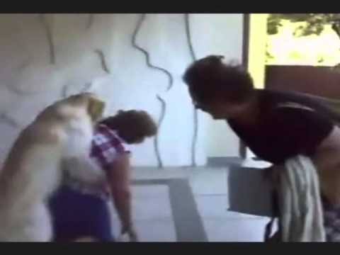 Granny gets fucked by dog