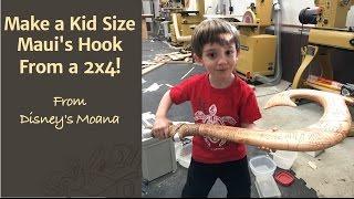 Make a Kid Size Maui's Hook From a 2x4 - Disney's Moana