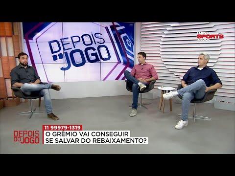 COMENTARISTAS DO DEPOIS DO JOGO ANALISAM SITUAÇÃO DE GRÊMIO E SANTOS NO BRASILEIRÃO