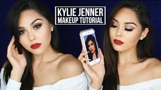 Kylie Jenner Inspired Fall Makeup Tutorial 2016  Bronze Smoky Eye + Red Lip