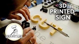 Making a 3D printed sign | Cut to the Point collab