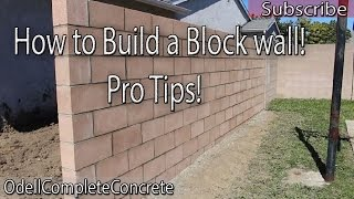 How to Build a Block Wall DIY #3